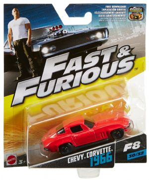 Fast & Furious 1:55th Die-Cast Vehicle Chevy Corvette 1966 - FCN87